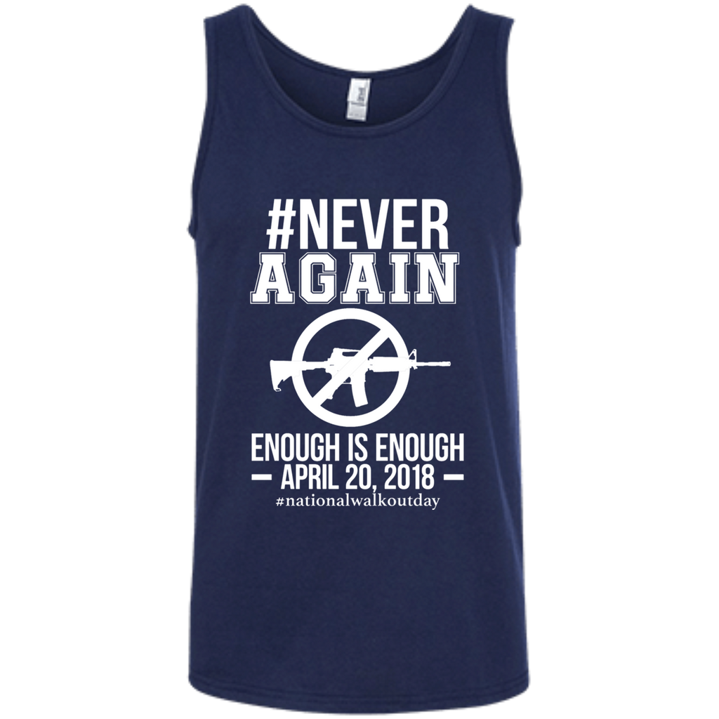 Gun Control, NEVER AGAIN Gun Reform Anti Gun 0064 100% Ringspun Cotton Tank Top - OwlCube - Canvas Wall Art