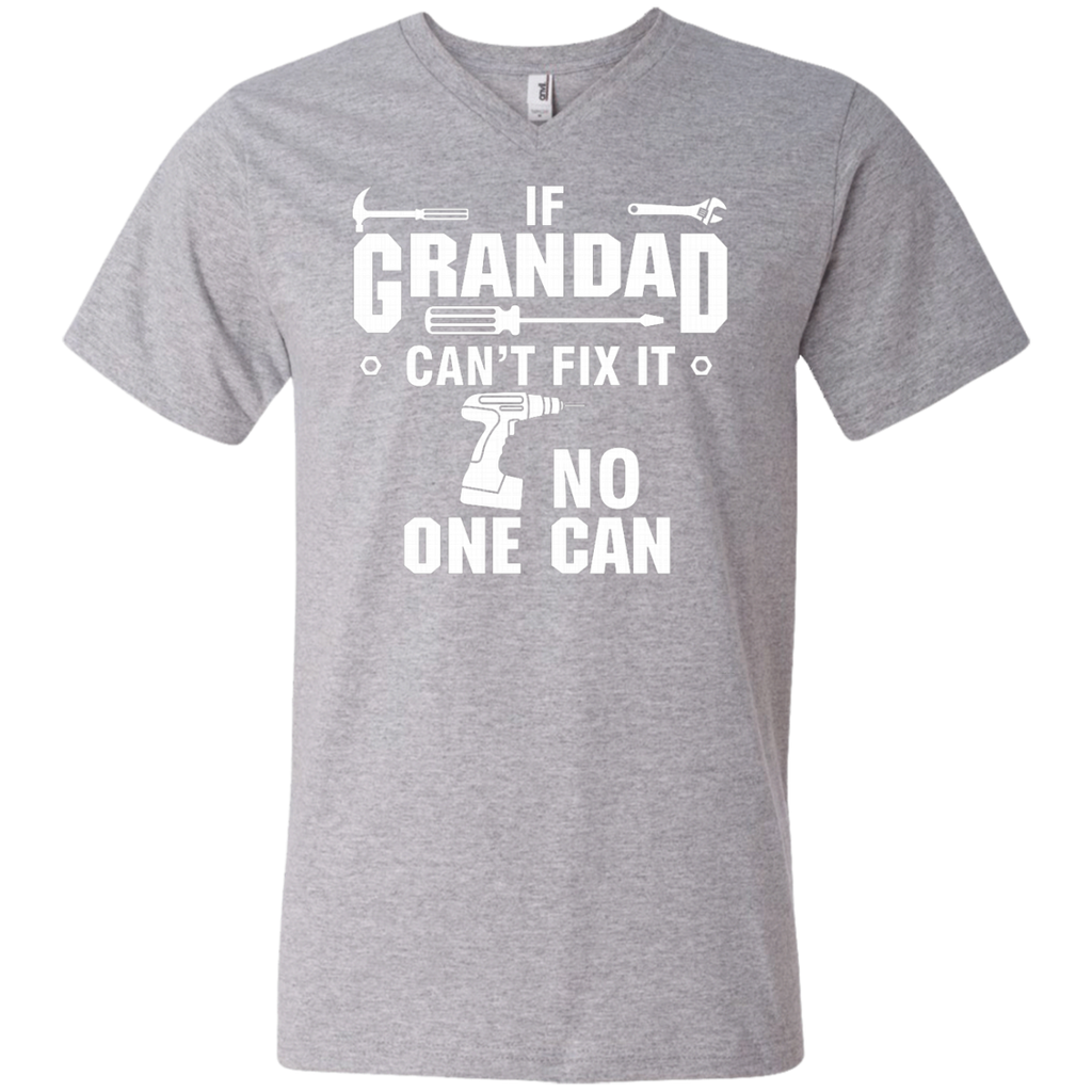 If Grandad can't fix it, no one can AT0135 982 Men's Printed V-Neck T-Shirt