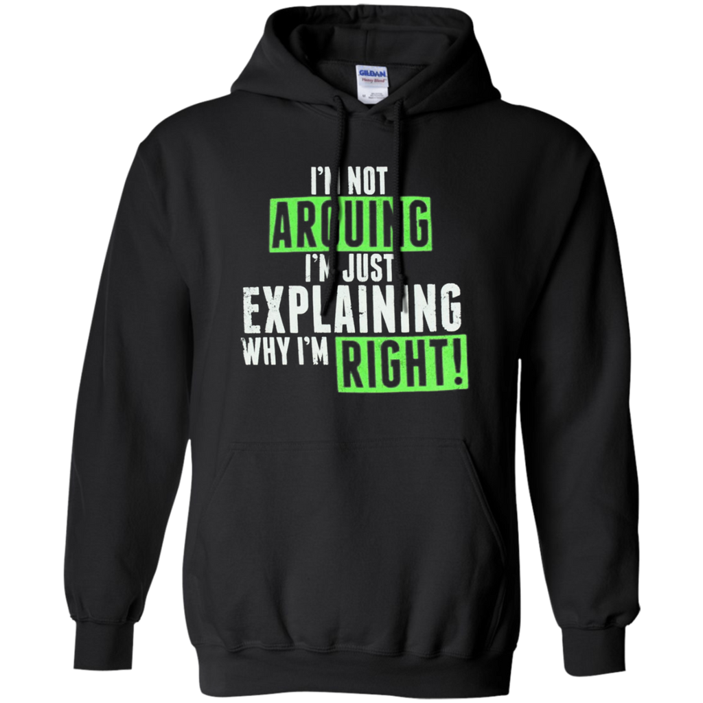 AT0020 I'm not arguing, I'm just explaining why I'm right G185 Pullover Hoodie 8 oz. - OwlCube - Diamond Painting by Numbers