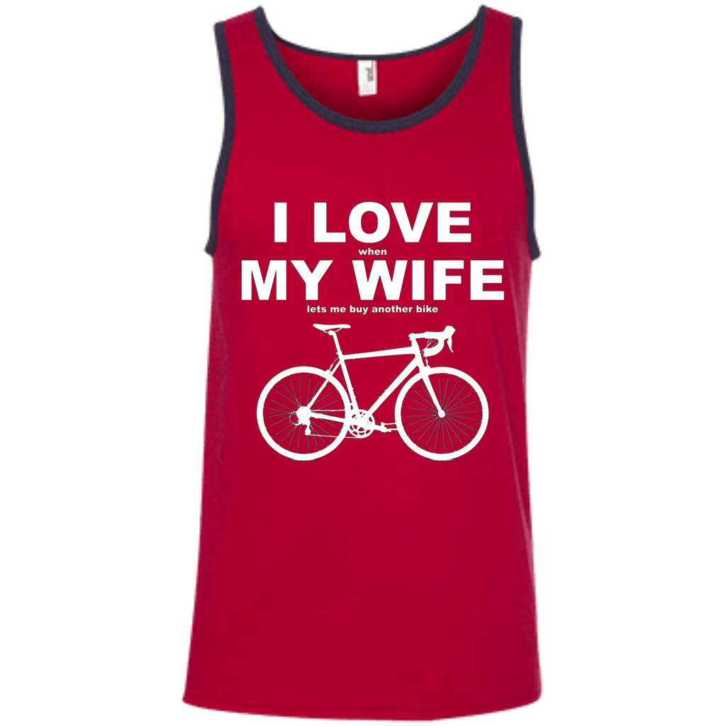 I LOVE MY WIFE AT0070 100% Ringspun Cotton Tank Top