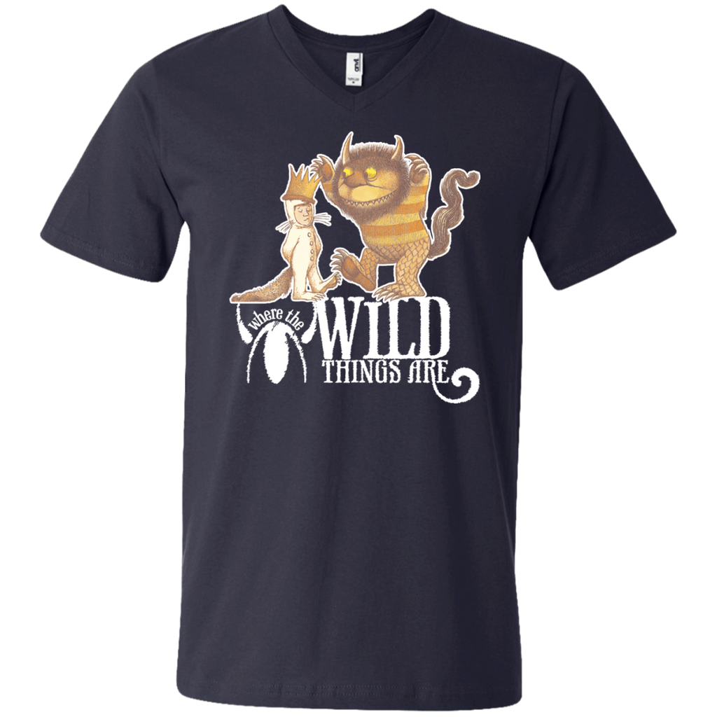 Where The Wild Things Are 1 982 Men's Printed V-Neck T-Shirt