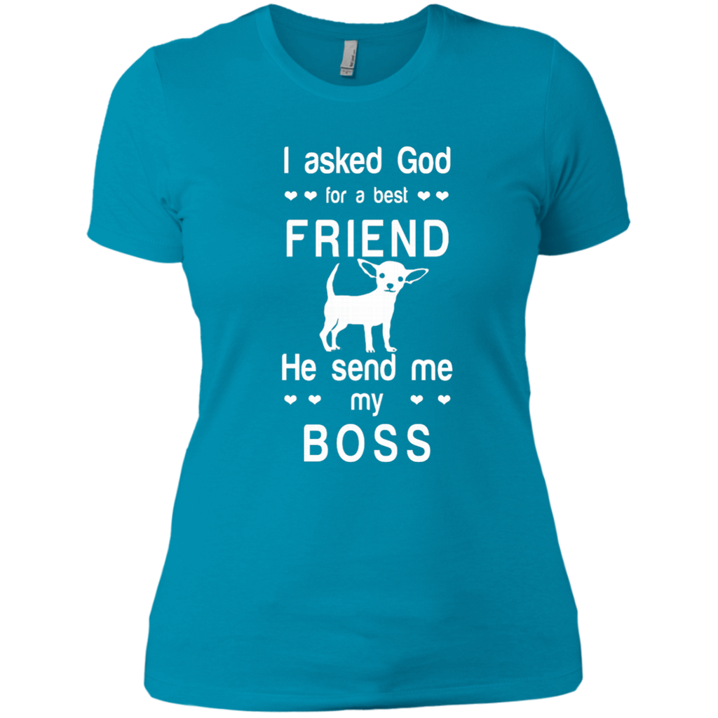 I asked God for a best friend, he send me my boss AT0077 NL3900 Ladies' Boyfriend T-Shirt - OwlCube - Canvas Wall Art