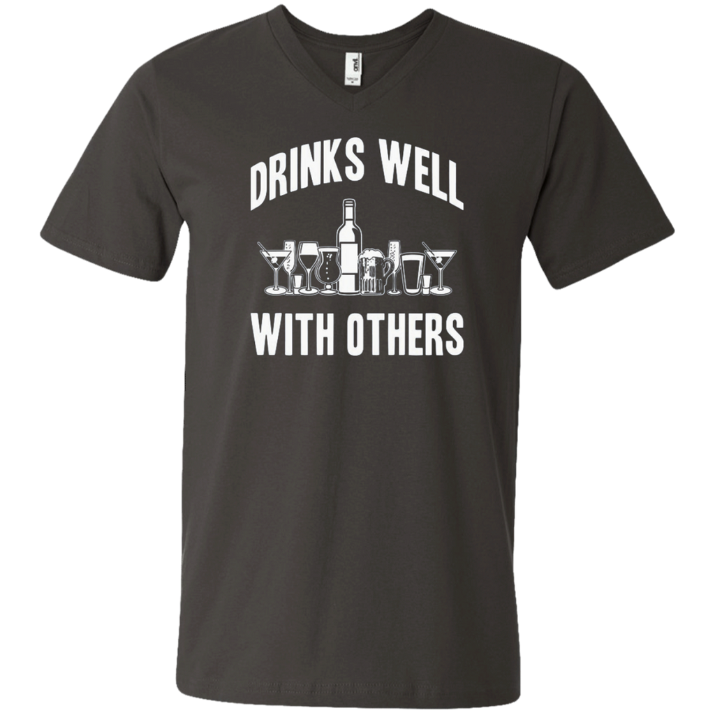 AT0004 Drinks Well With others 982 Men's Printed V-Neck T-Shirt - OwlCube - Diamond Painting by Numbers
