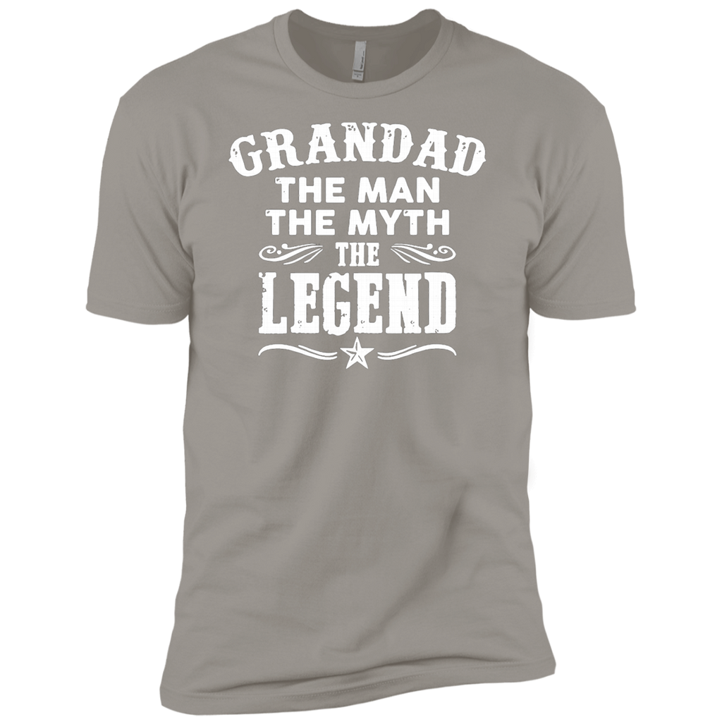 Grandad The Man The Myth The Legend AT0062 NL3600 Premium Short Sleeve T-Shirt - OwlCube - Canvas Wall Art