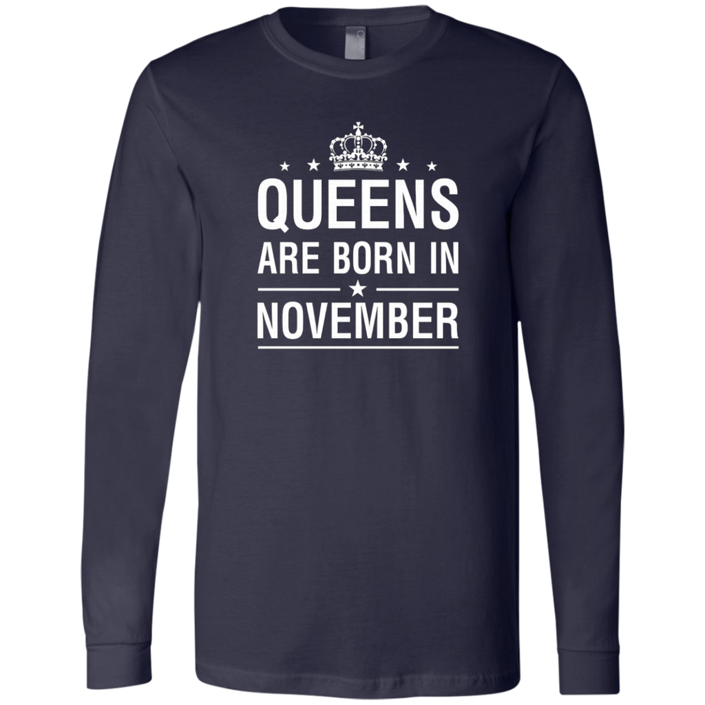 Queens Are Born In November AT0094 3501 Men's Jersey LS T-Shirt