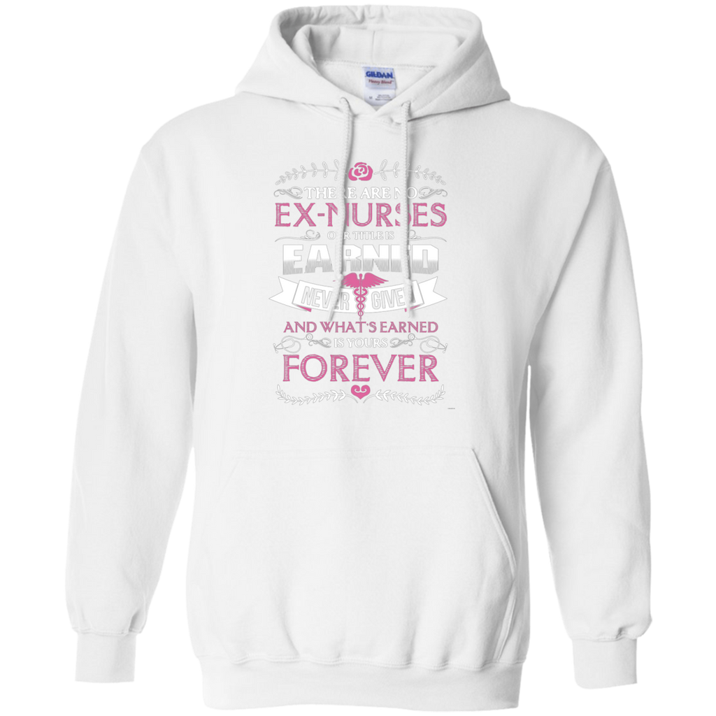 Nurse Forever AT0122 G185 Pullover Hoodie 8 oz.