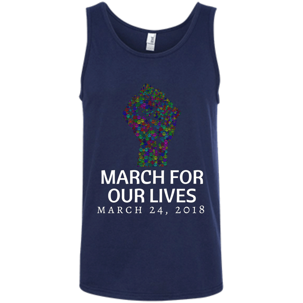 March for our Lives AT0046 100% Ringspun Cotton Tank Top