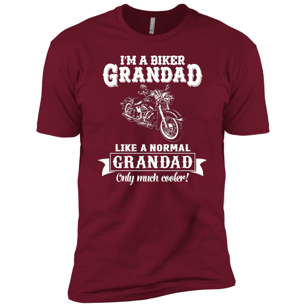 Biker Grandad , Like normal Grandad , Only Cooler AT0132 NL3600 Premium Short Sleeve T-Shirt - OwlCube - Diamond Painting by Numbers