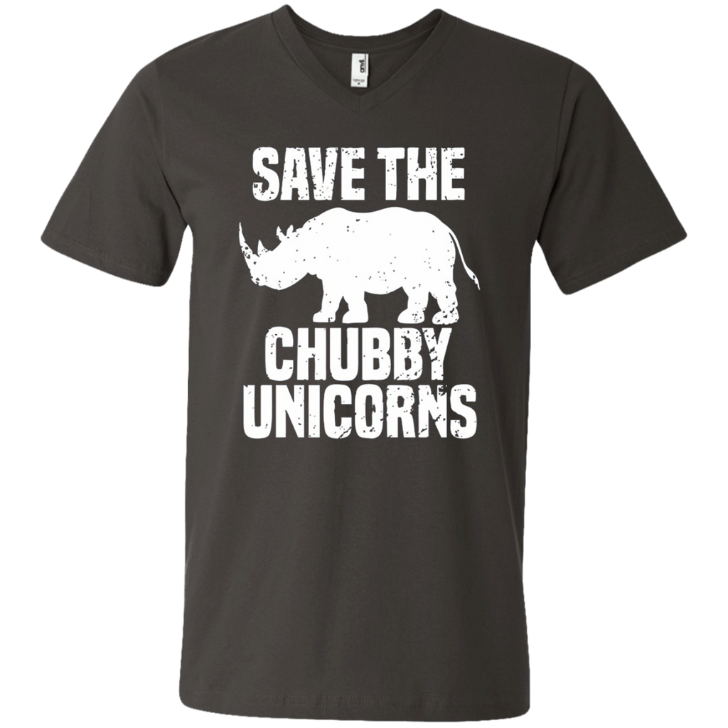 AT0032 Save The Chubby Unicorn 982 Men's Printed V-Neck T-Shirt - OwlCube - Diamond Painting by Numbers