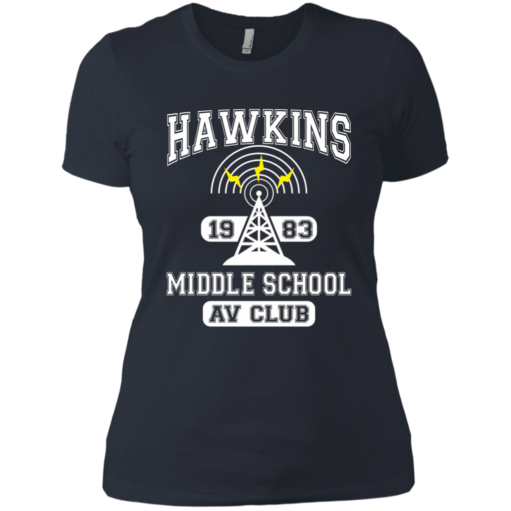 Stranger Things - Hawkins Middle School A.V. Club AT0102 NL3900 Ladies' Boyfriend T-Shirt