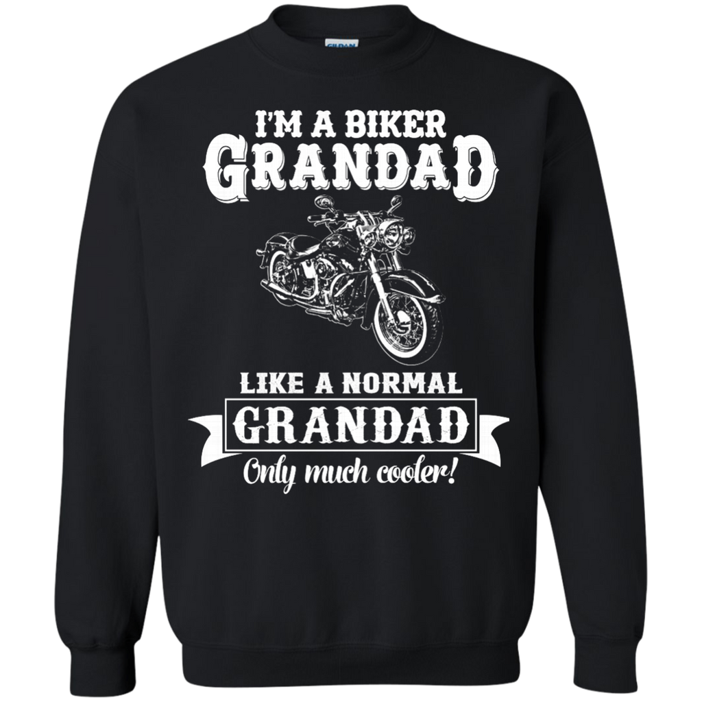 Biker Grandad , Like normal Grandad , Only Cooler AT0132 G180 Crewneck Pullover Sweatshirt  8 oz. - OwlCube - Diamond Painting by Numbers