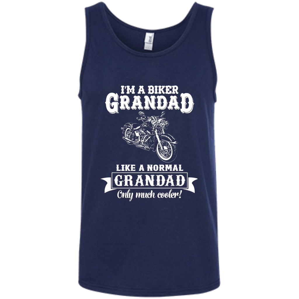 Biker Grandad , Like normal Grandad , Only Cooler AT0132 100% Ringspun Cotton Tank Top - OwlCube - Diamond Painting by Numbers