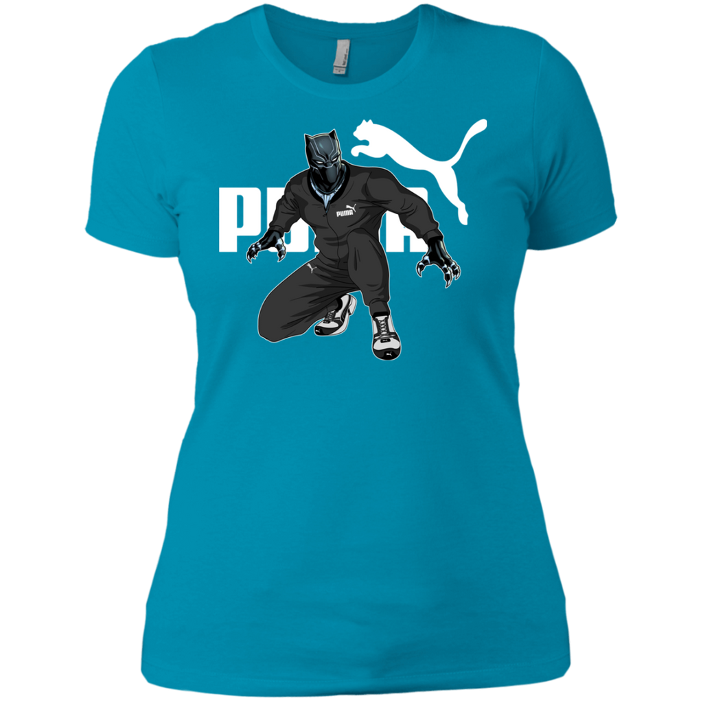 Black Panther Puma NL3900 Ladies' Boyfriend T-Shirt - OwlCube - Diamond Painting by Numbers