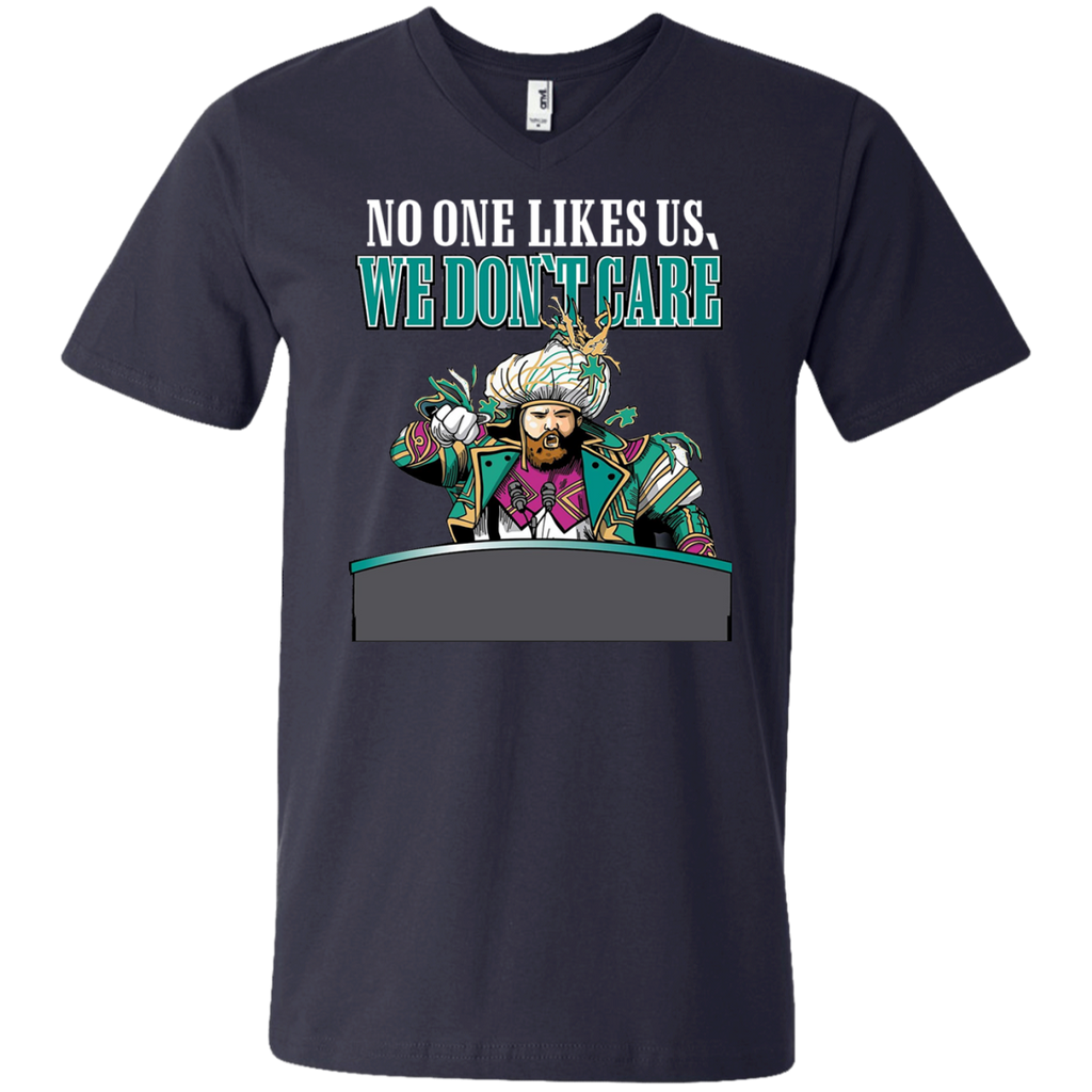 No One Likes Us We Don't Care AT0048 982 Men's Printed V-Neck T-Shirt