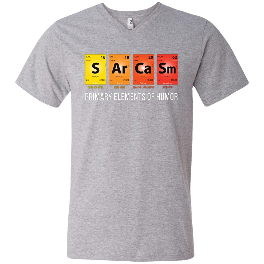 Sarcasm Mendeleev Humor Periodic Elements AT0096 982 Men's Printed V-Neck T-Shirt