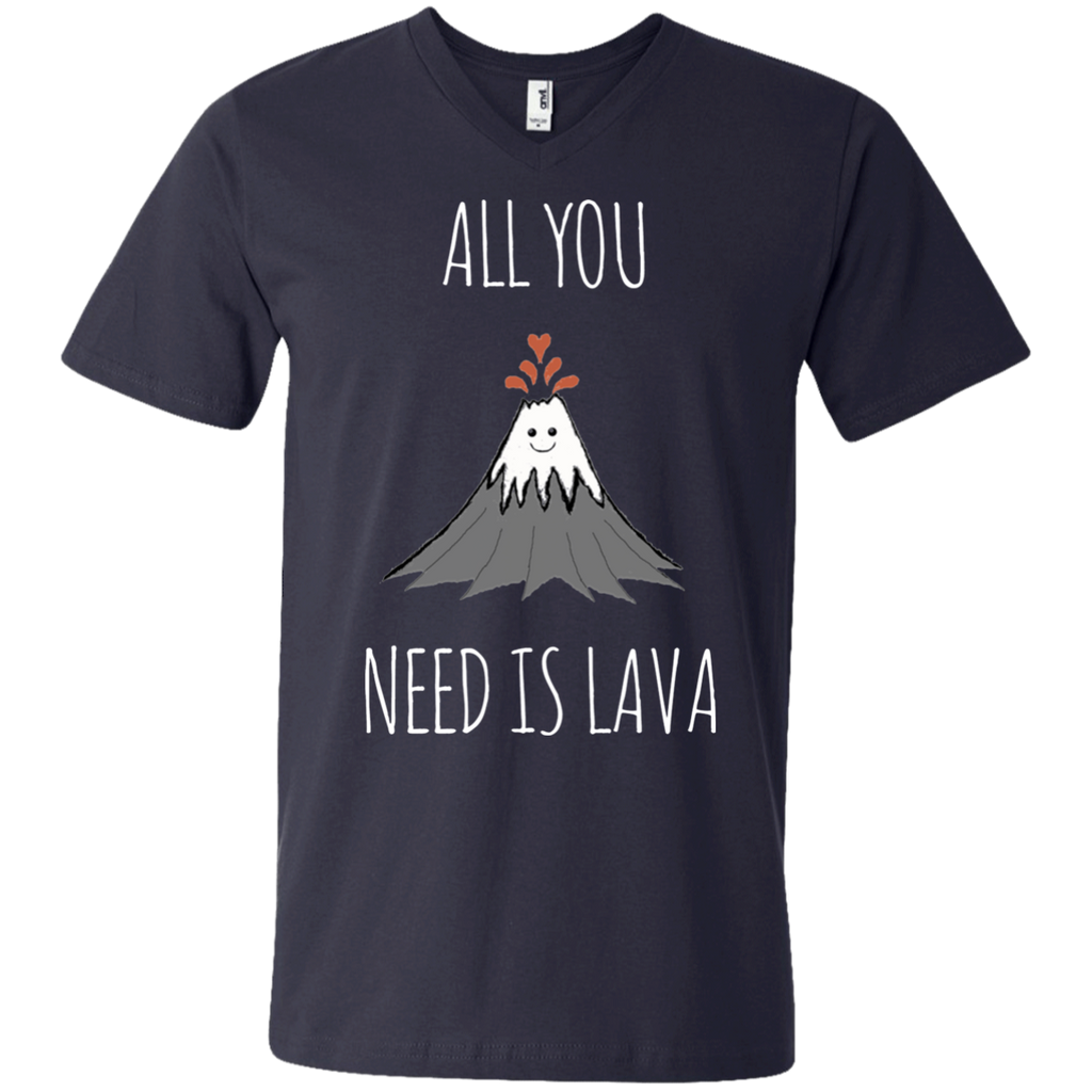 All You Need Is Lava! AT0052 982 Men's Printed V-Neck T-Shirt - OwlCube - Diamond Painting by Numbers