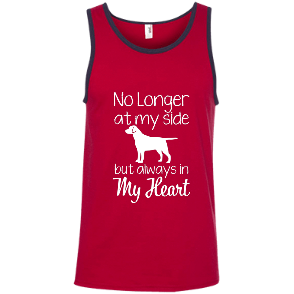 No Longer At My Side but always in my heart AT0073 100% Ringspun Cotton Tank Top