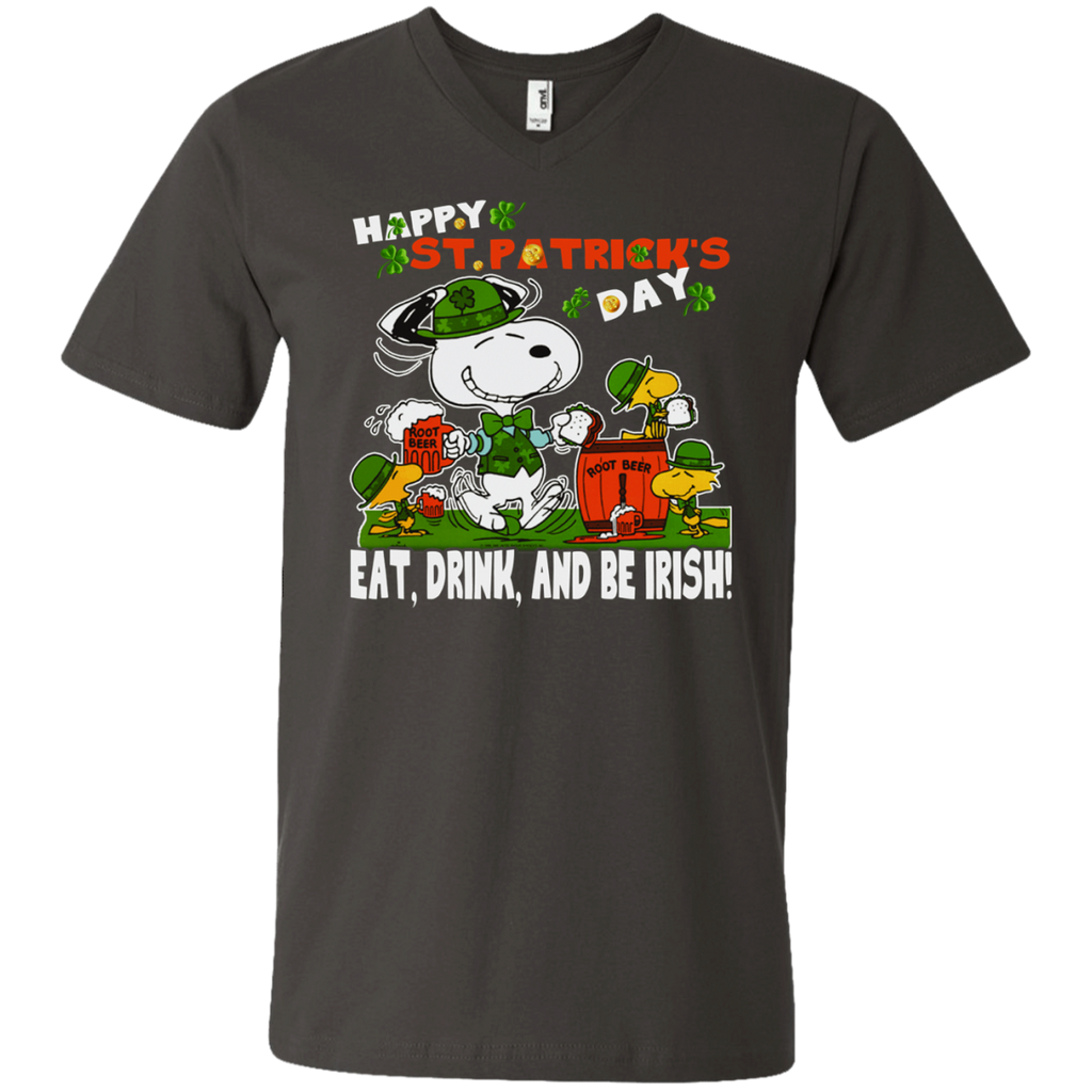 Snoopy Irish - Eat Drink and Be Irish! 982 Men's Printed V-Neck T-Shirt