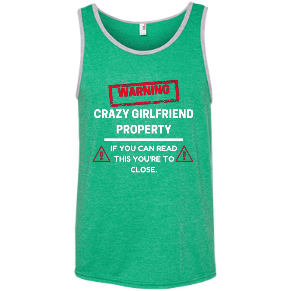 Crazy Girlfriend Property Boyfriend AT0113 100% Ringspun Cotton Tank Top - OwlCube - Diamond Painting by Numbers