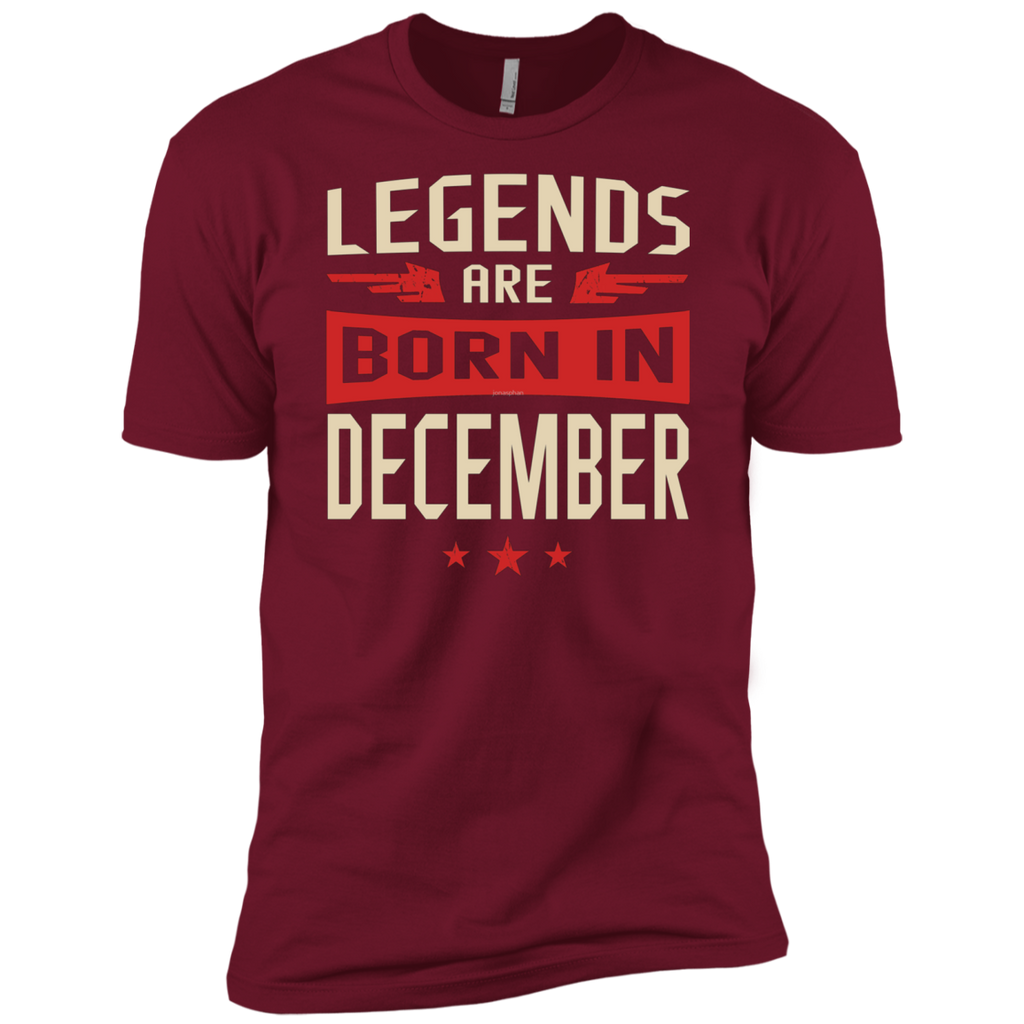 Legends Are Born in December AT0078 NL3600 Premium Short Sleeve T-Shirt