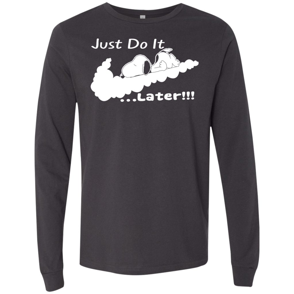 Snoopy - Just Do It Later!!! 3501 Men's Jersey LS T-Shirt