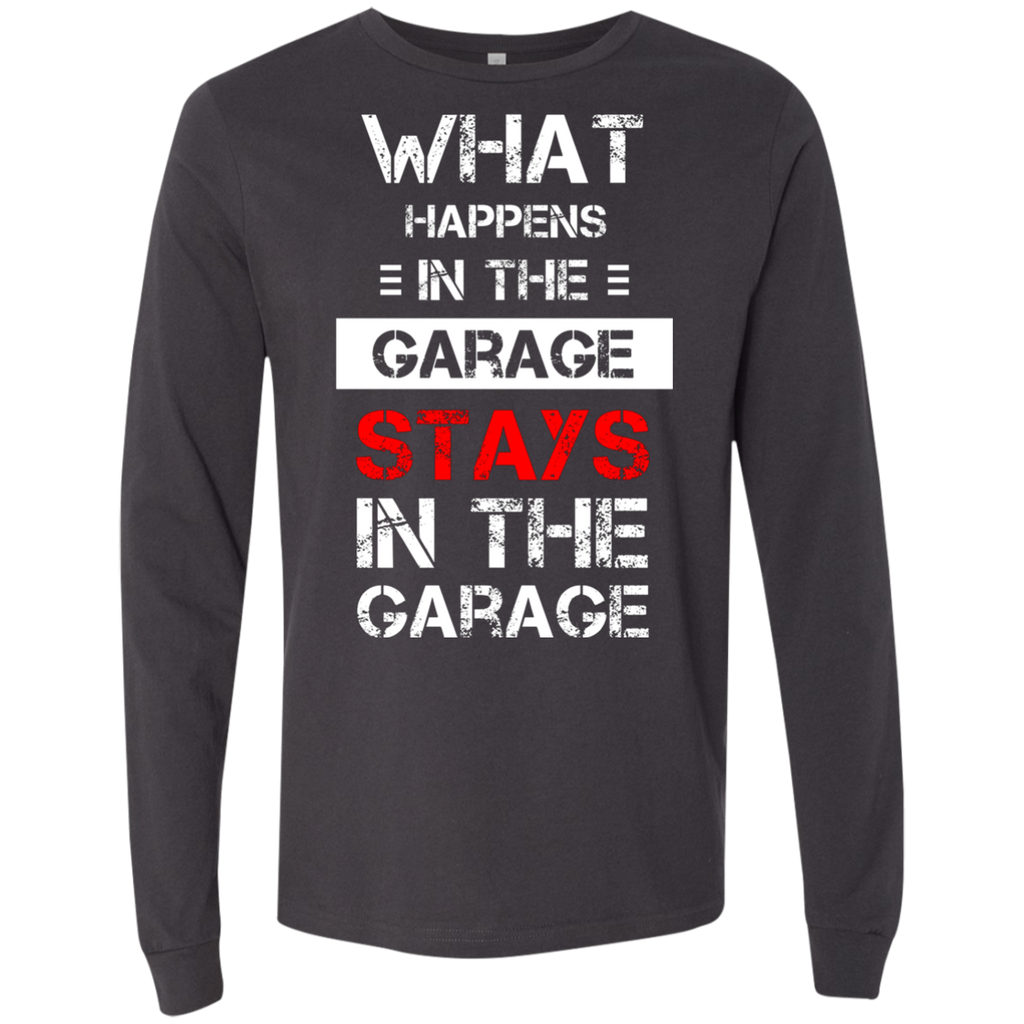 Mechanic T-Shirt - What happens stays in the Garage AT0089 3501 Men's Jersey LS T-Shirt