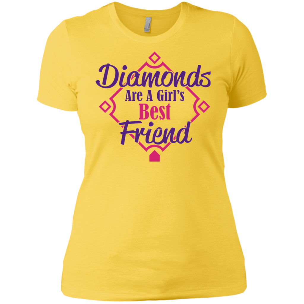 Diamonds Girl best friend AT0081 copy NL3900 Ladies' Boyfriend T-Shirt - OwlCube - Diamond Painting by Numbers