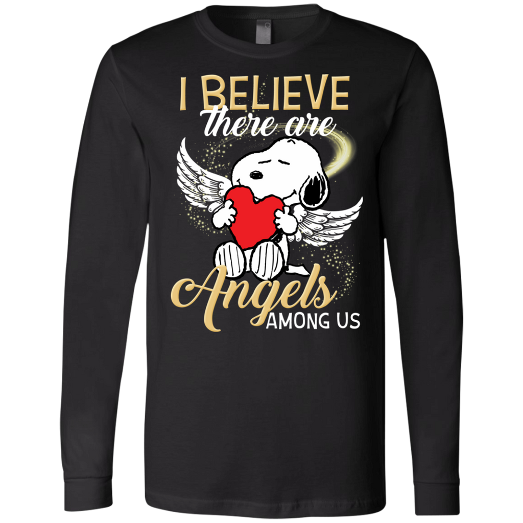 Snoopy Angels 3501 Men's Jersey LS T-Shirt