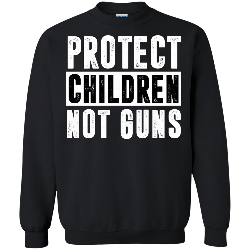 Protect Children Not Guns Gun Control Anti Gun AT0107 G180 Crewneck Pullover Sweatshirt  8 oz.