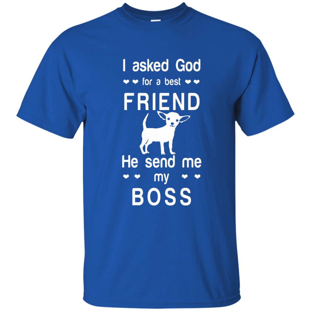 I asked God for a best friend, he send me my boss AT0077 G200 Cotton T-Shirt - OwlCube - Canvas Wall Art