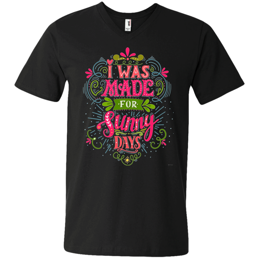 I was made for sunny days AT0099 982 Men's Printed V-Neck T-Shirt