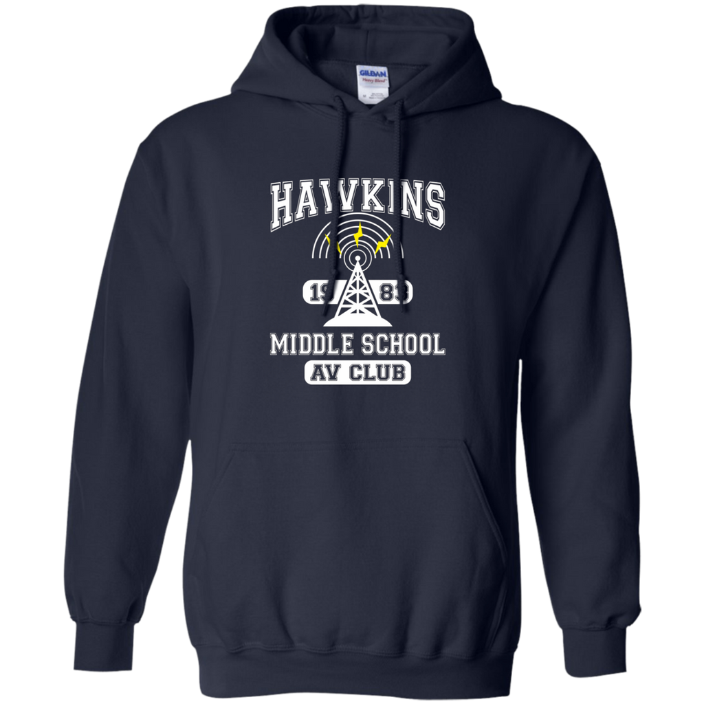 Stranger Things - Hawkins Middle School A.V. Club AT0102 G185 Pullover Hoodie 8 oz.
