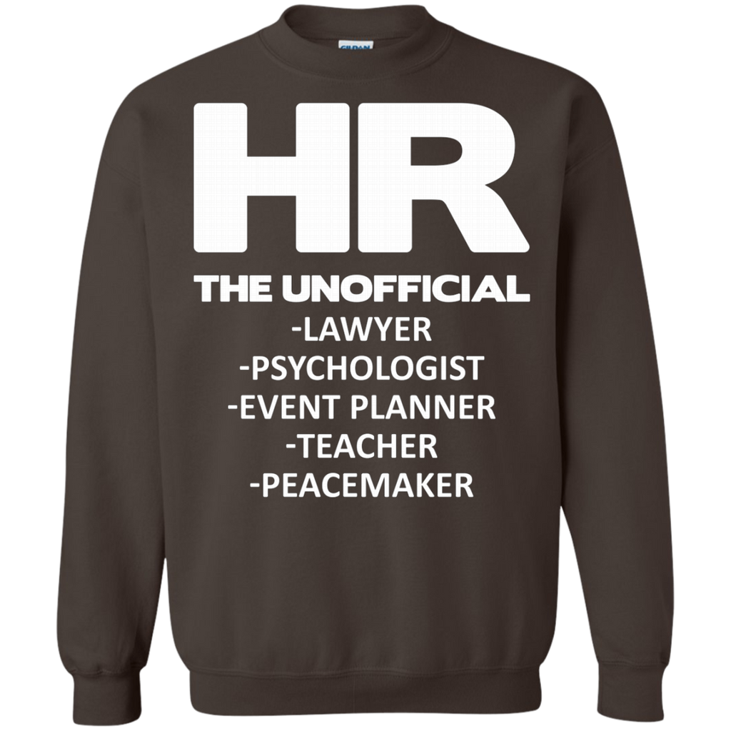 HR THE UNOFFICIAL LAWYER TEACHER AT0066 G180 Crewneck Pullover Sweatshirt  8 oz.