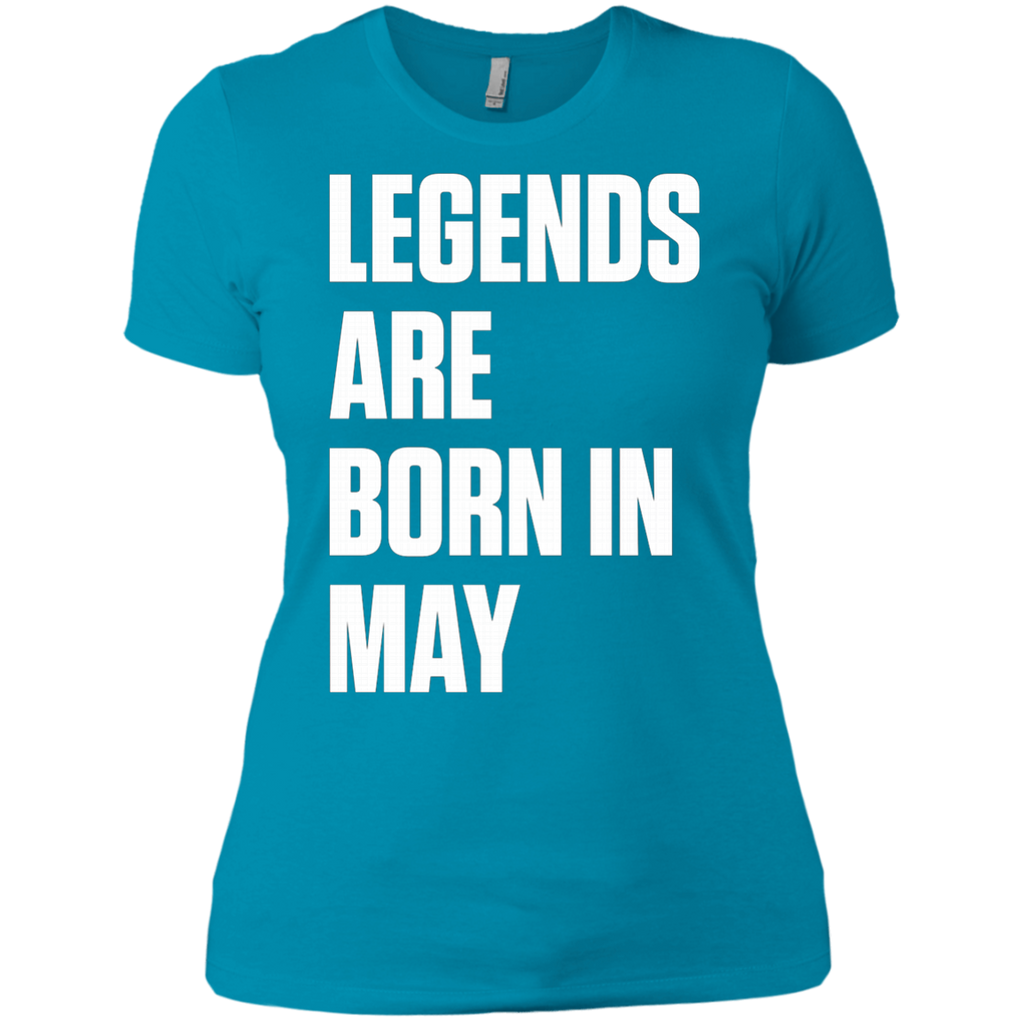 Legends Are Born In May AT0080 NL3900 Ladies' Boyfriend T-Shirt