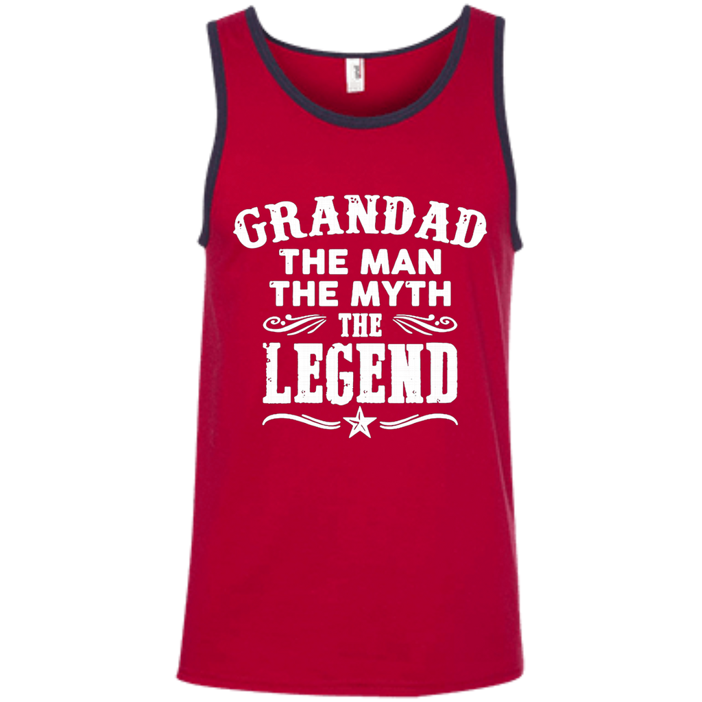 Grandad The Man The Myth The Legend AT0062 100% Ringspun Cotton Tank Top - OwlCube - Canvas Wall Art