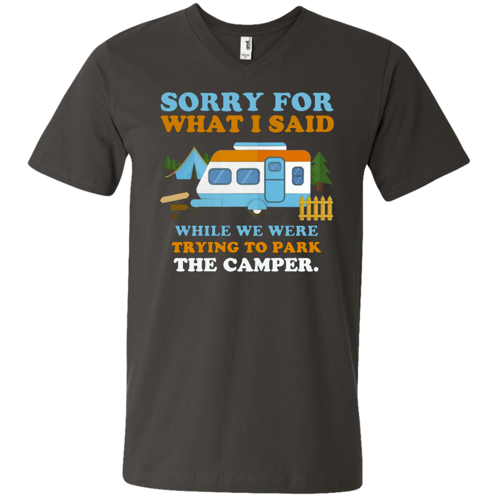 Sorry for what i said while we were trying to park the camper AT0098 982 Men's Printed V-Neck T-Shirt