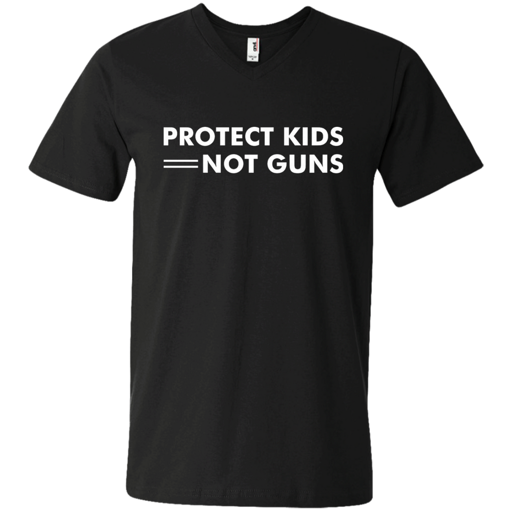 Protect Kids Not Guns AT0111 982 Men's Printed V-Neck T-Shirt