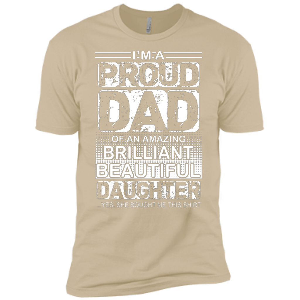Proud dad of an amazing daughter AT0126 NL3600 Premium Short Sleeve T-Shirt