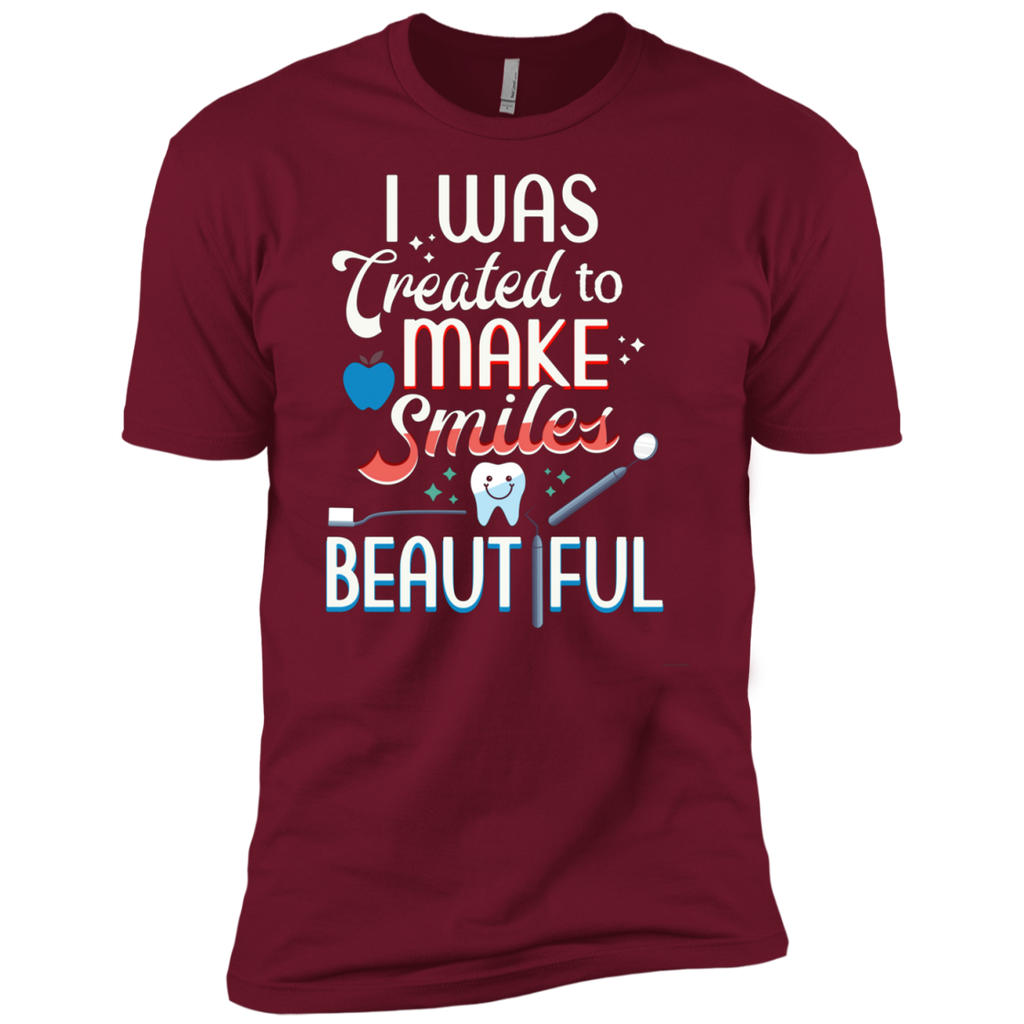 I Was Created To Make Smiles Beautiful - Dentist AT0093 NL3600 Premium Short Sleeve T-Shirt