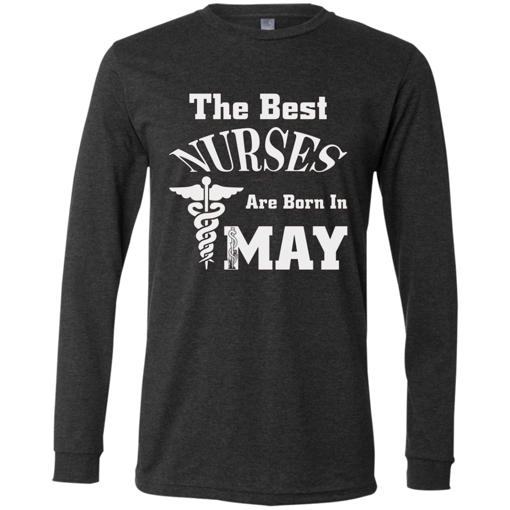 The Best Nurses Are Born In MAY AT0123 3501 Men's Jersey LS T-Shirt