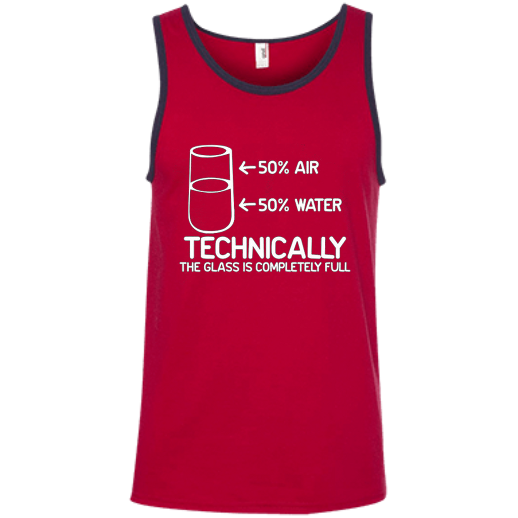 76f1e270371 ... AT0034 The Glass Is Completely Science 100% Ringspun Cotton Tank Top -  OwlCube - Diamond ...