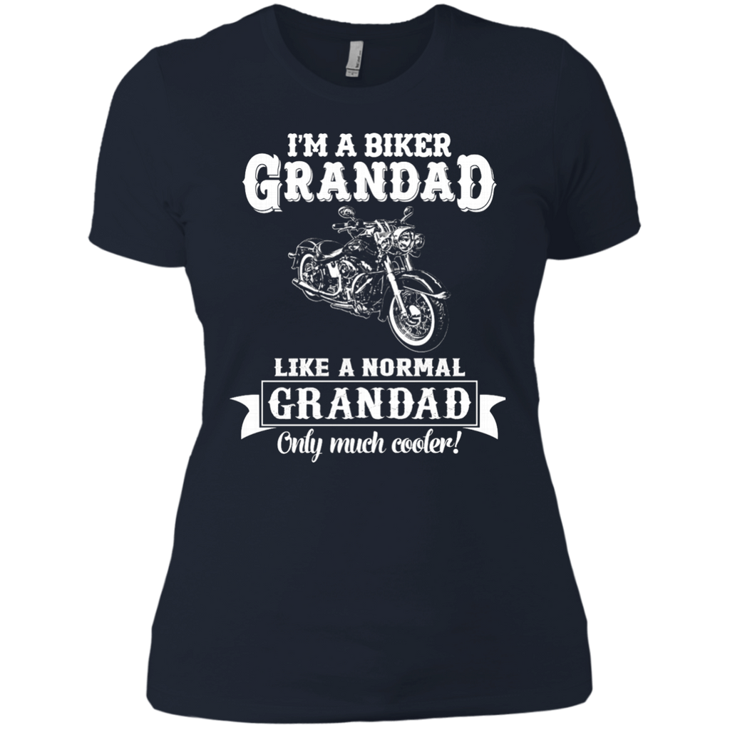 Biker Grandad , Like normal Grandad , Only Cooler AT0132 NL3900 Ladies' Boyfriend T-Shirt - OwlCube - Diamond Painting by Numbers