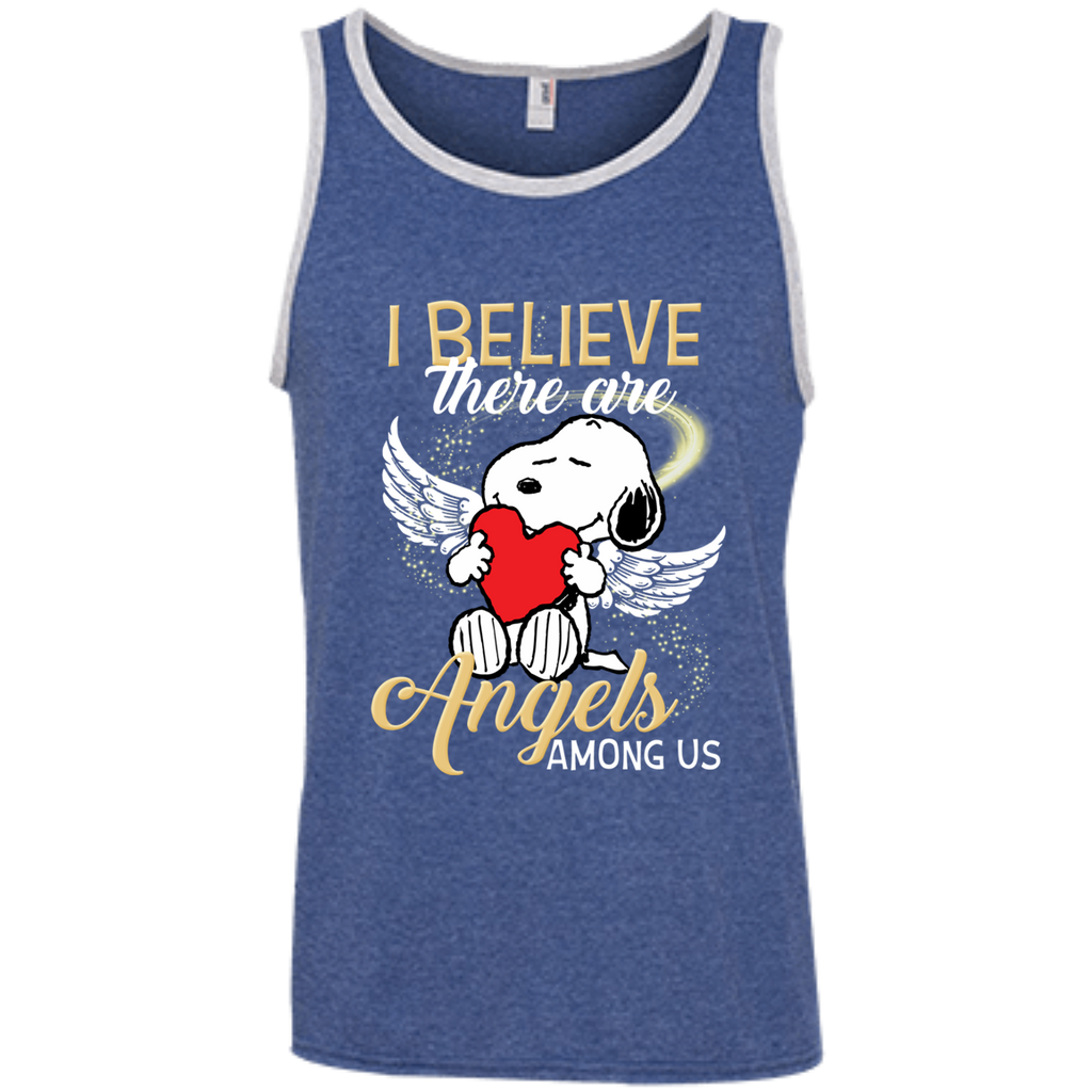 Snoopy Angels 100% Ringspun Cotton Tank Top