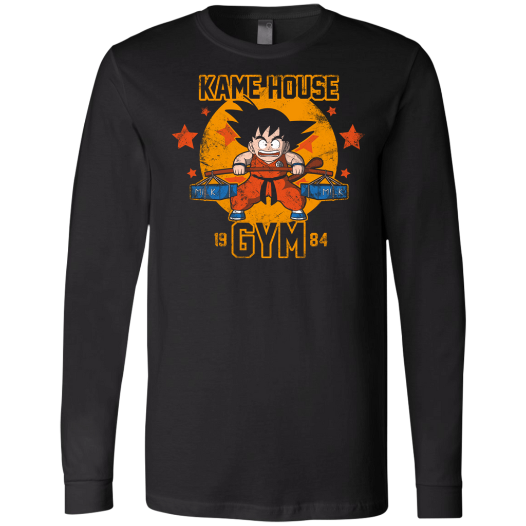 Kamehouse Gym 2 3501 Men's Jersey LS T-Shirt