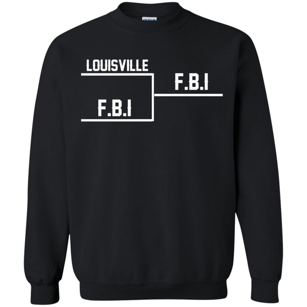 Louisville FBI AT0084 G180 Crewneck Pullover Sweatshirt  8 oz.
