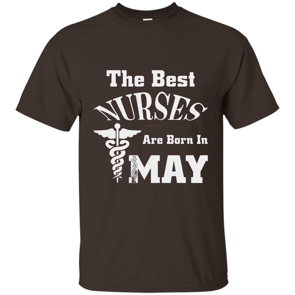 The Best Nurses Are Born In MAY AT0123 G200 Ultra Cotton T-Shirt