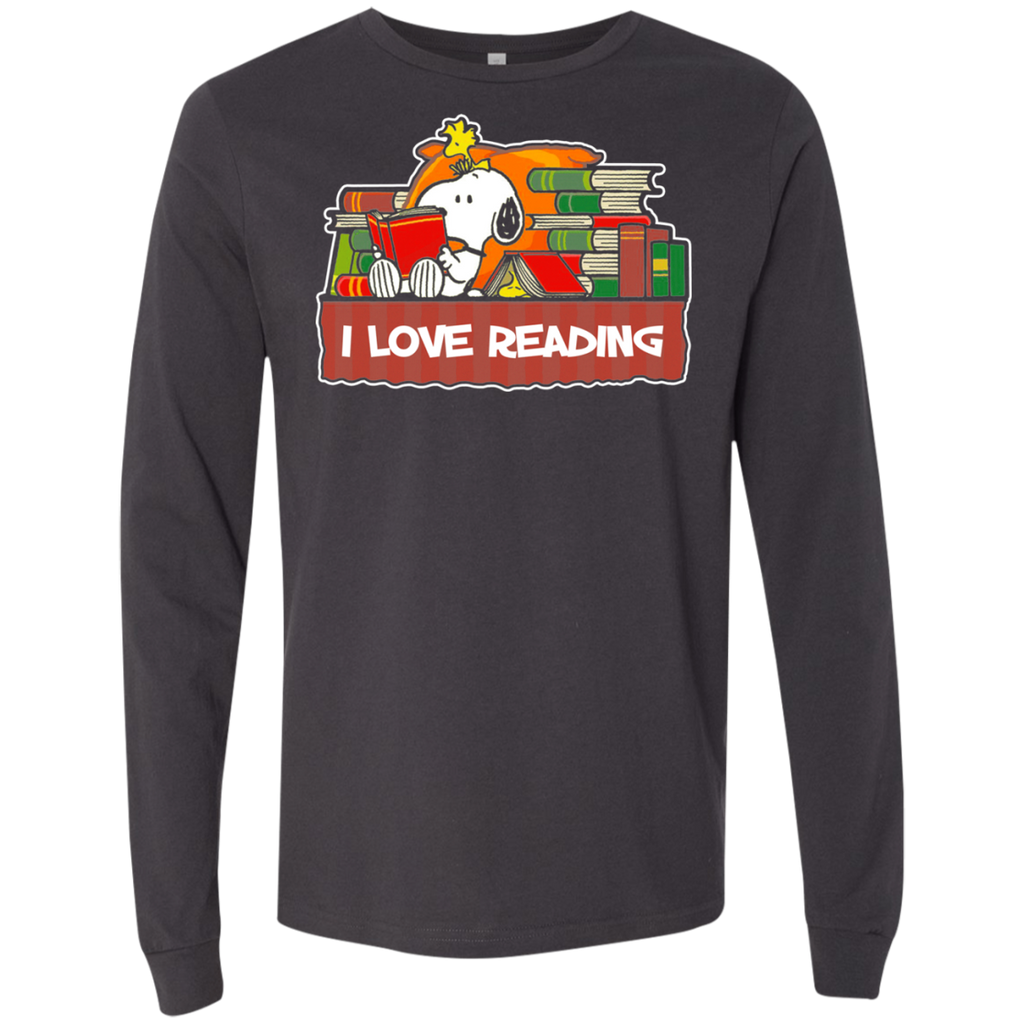 Snoopy Reading 3501 Men's Jersey LS T-Shirt