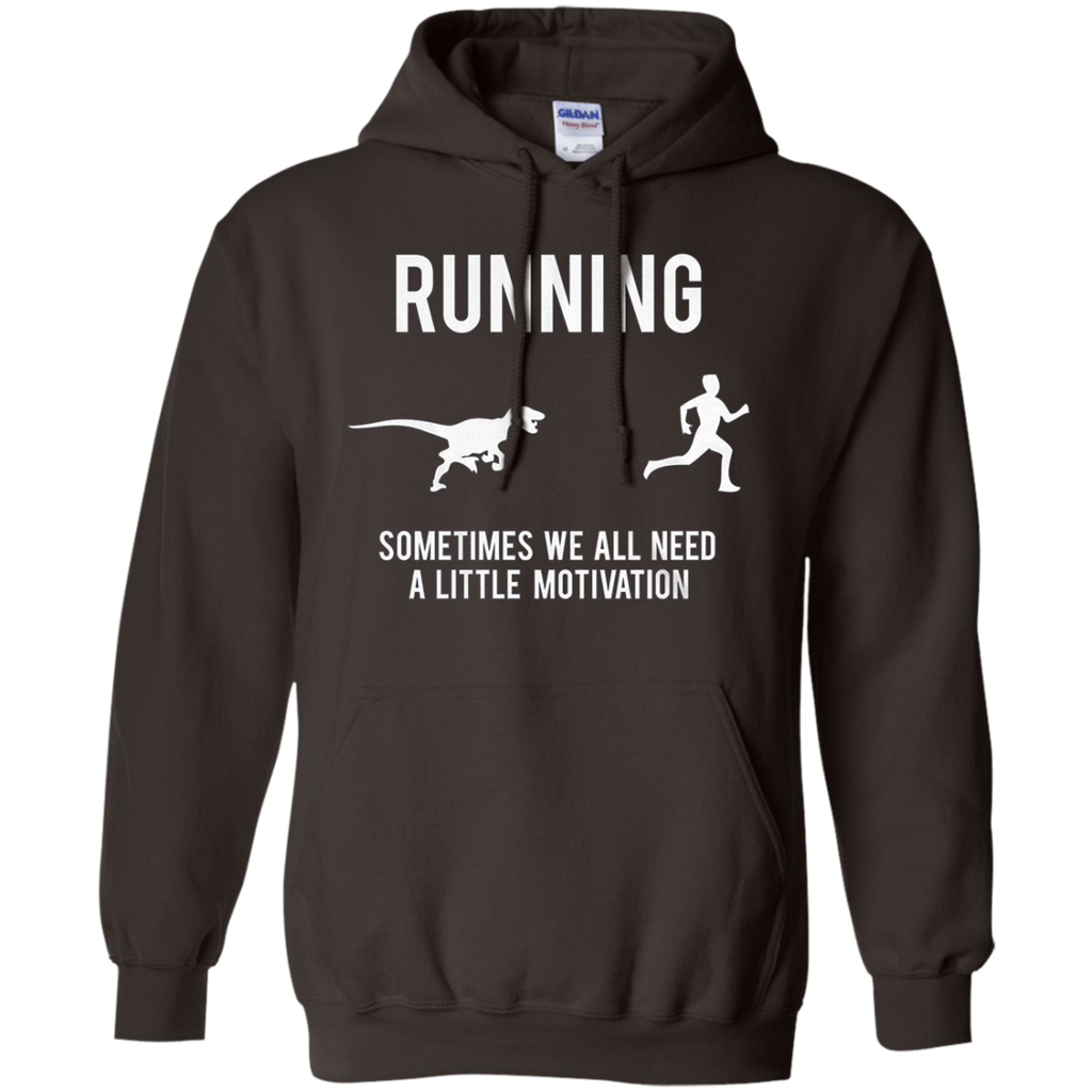 AT0024 Mens Running Motivation Raptor Chase G185 Pullover Hoodie 8 oz. - OwlCube - Diamond Painting by Numbers