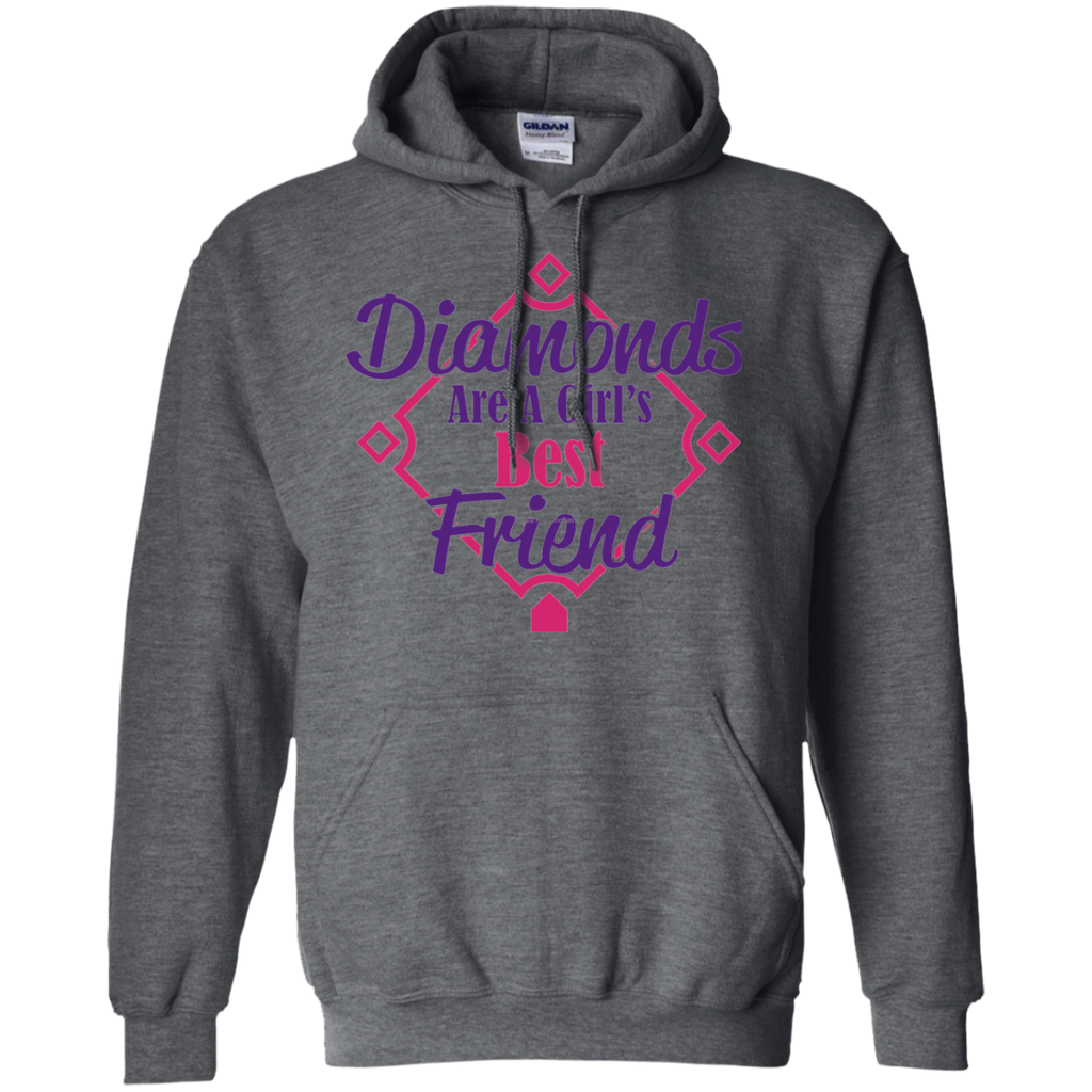 Diamonds Girl best friend AT0081 copy G185 Pullover Hoodie 8 oz. - OwlCube - Diamond Painting by Numbers