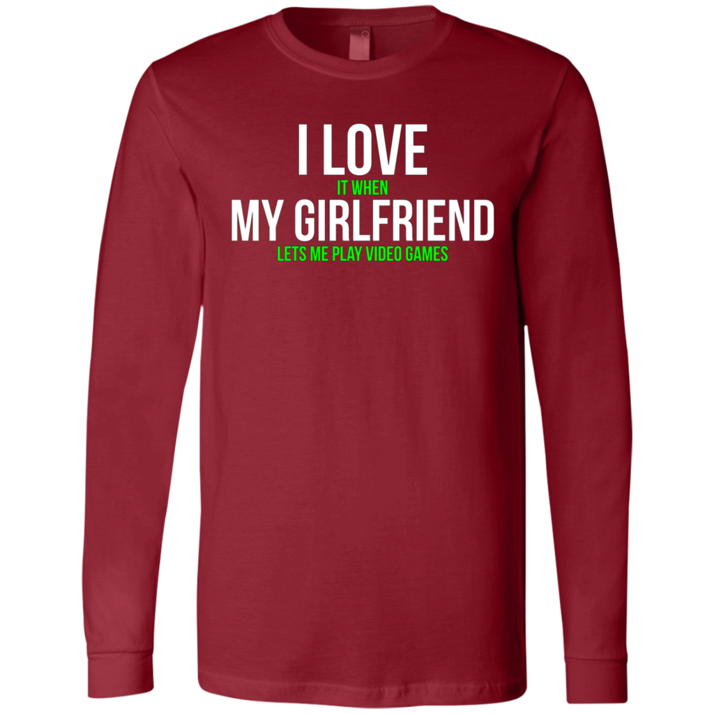 I love my girlfriend Funny Gamer AT0068 3501 Men's Jersey LS T-Shirt